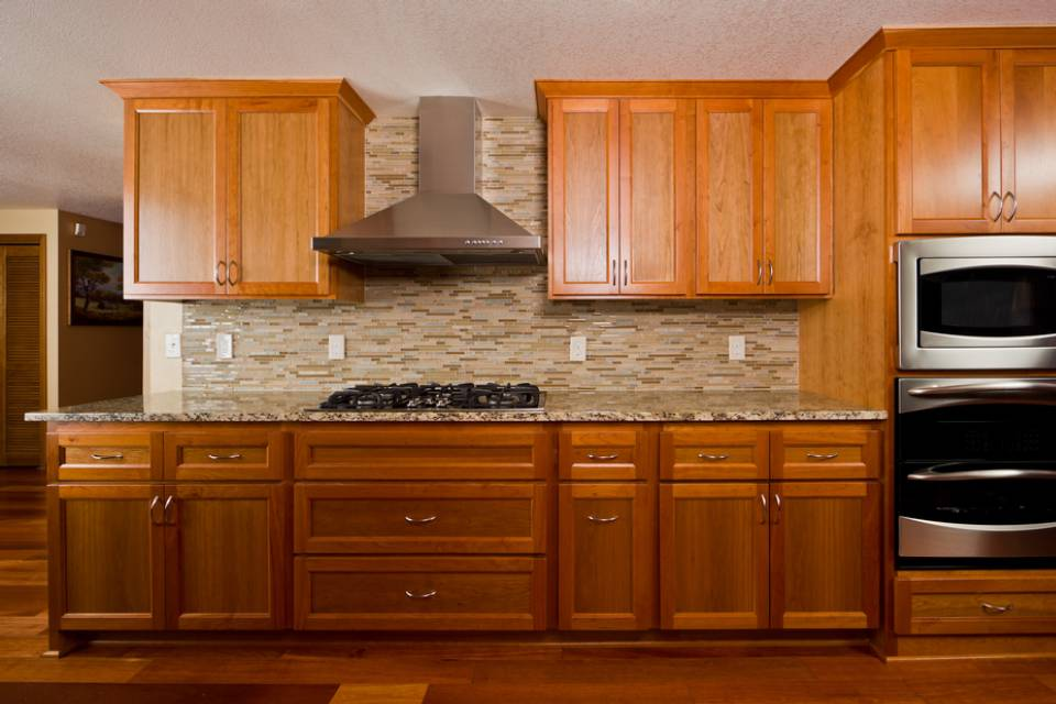 custom designed and installed kitchen cabinets